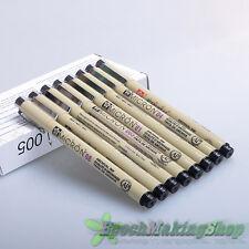 8 X Sakura Pigma Micron Fine Line Technical Drawing Pen 005 01 02 03 04 05 08 BR