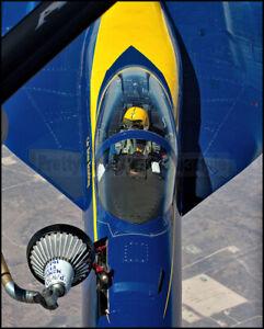 USN Blue Angels #1 F/A-18 Super Hornet Refueling Over Texas 2021 8x10 Photos