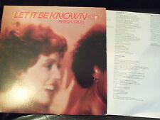 TERESA TRULL - LET IT BE KNOWN - IMPORT - LYRICS - 1980 - £6