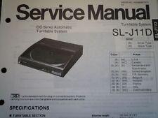 TECHNICS SL-J11D giradischi automatico servo Manuale Servizio diagramma di cablaggio parti