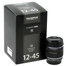 Olympus Zuiko Digitale M. ED 12-45mm f/4.0 Regno Unito Nero PRO consegna il giorno successivo