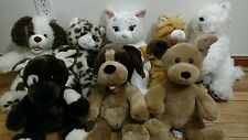 x8 Build a Bear Dogs & Cats puppy Brown white Leopard Kitten Doggy puppy pup lot
