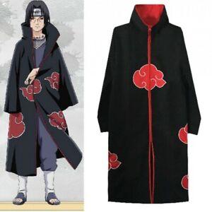 NARUTO Anime Akatsuki Uchiha Itachi Cloak Anime Cosplay Unisex Costume ninja XL