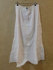 CHRISTOPHER BANKS NWT! size Large long modest white skirt~Lined _________ R18B2