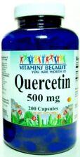 Quercetin Immune, Respiratory. Heart Health Support 500mg 200 Capsules, Made USA