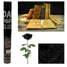 4x Konfetti-Shooter Dark Schwarze Rosenblätter 40cm Party Kanone Konfettikanone