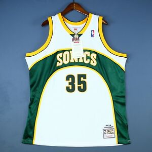 100% Authentic Kevin Durant Mitchell & Ness 07 08 Sonics Jersey Size 52 2XL Mens