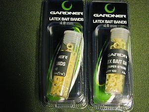 Gardner 100 Latex Bait Bands 3,2 + 4,8 + 6,4mm, 1-A Qualität, Pellet Bands