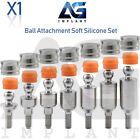 Straight Ball Attachment Abutment Soft Set Dental Implant Hexagon
