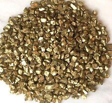 Miniature FAIRY GARDEN Terrarium ~ GOLD GLASS GEMS Crushed Decorative Chips