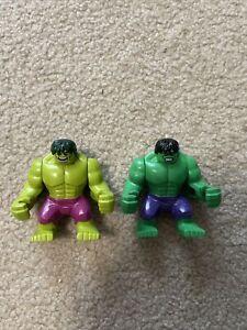Lego Hulk Big Fig Marvel Avenger Minifigure Lot WEAR Read!