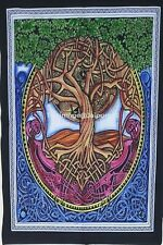Tapestry Tree Of Life Celtic Knot Handmade Poster Wall Hanging Home Decor Throw