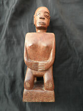 Old Jah Hut Orang Asli Art Carving Kneeling Spirit Moyang Wood Pahang Malaysia