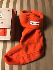 NWT Hunter Boys Girls Kids Sz M Boot Tall Socks Orange
