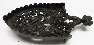 Ancien SUPPORT de fer à repasser iron bronze porte fer