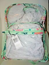 CLEARLY COLORFUL LARGE BACKPACK Mint Flowers Vera Bradley NWT 25150-N33 $80
