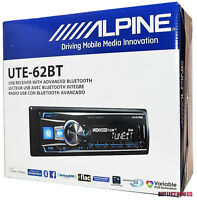 ALPINE UTE-62BT BLUETOOTH MP3 USB IPOD WMA AUX IPHONE EQUALIZER CAR STEREO