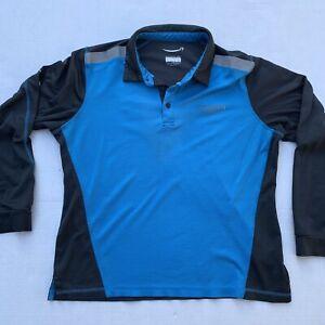 Amazon Employee Men Active Polo Shirt Long Sleeve Uniform Large Delivery Driver