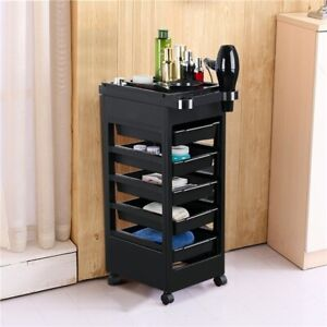 Salon Hairdressing Cart Beauty Storage Trolley Hair Drawers Colouring Cart Spa