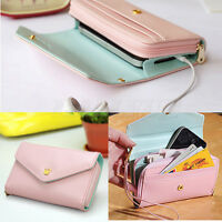 Hot Envelope Wallet Phone Purse Bags Case For Samsung Galaxy S3 iphone 4 5 Pink
