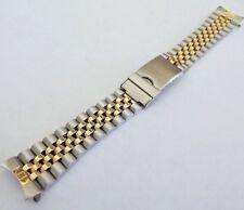 jubilee x rolex doppia chiusura orologi acciaio bicolore ansa curva 20 mm band