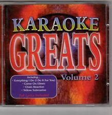 (EV164) Karaoke Greats Vol 2 - 1999 CD + Lyric booklet