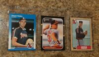 (3) Chuck Finley Rookie Card lot 1987 Fleer   Donruss Topps RC Angels 5X Allstar