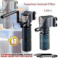 3 in 1 Aquarium Internal Oxygen Submersible Water Pump Tank For Fish Pond B6T3