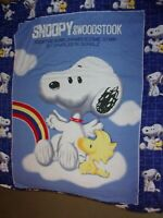 Snoopy Charles Schulz Fitted Sheet Double/Full Blue Woodstock