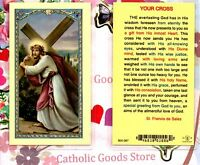 Your Cross - by St Francis de Sales- Laminated Holy Card