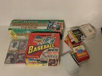 80's - 90's Vintage Topps Fleer Donruss Baseball Cards Lot, Sealed Wax Packs