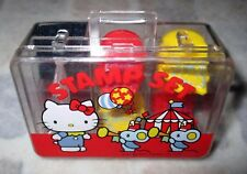 Vintage 1976 SANRIO HELLO KITTY Suit Case 4pcs Stamps and Ink Pad Set Japan Mint