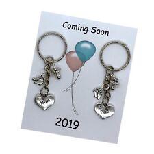 Coming Soon 2019 MUM DAD Pregnancy Expecting Handmade Keyring Baby Shower Gift