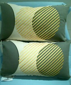 Sainsburys Set of 2 x Apartment Living Embroidered Cushions 30x50cm NEW GOLD