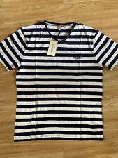 SoulCal&Co New Mens Blue/White Stripe XL T Shirt RRP £17.99