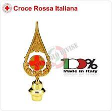 Lancia Puntale Ottone per Aste Bandiera Croce Rossa Italiana CRI