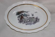 Royal Worcester Hunting Scene Dog Pheasant  Trinket Plate