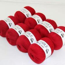 8Ballsx50g Pure Sable Cashmere Hand Knitwear Wool Shawls Soft Crochet Yarn 07