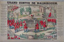 Rare Vintage Imagerie Epinal Pellerin print/Grand Convoi de Malborough INV2311