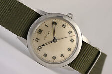 Vintage ETERNA MILITARY WATCH! wunderschön! Stahl 35mm Fall-manual wind Swiss Made