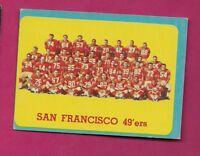1963 TOPPS # 145 SAN FRANCISCO 49 ERS TEAM PHOTO SP EX+ CARD (INV# A5012)