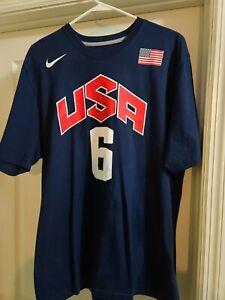 Nike Lebron James XL T-Shirt Team U.S.A #6