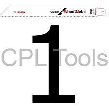 1 Bosch S1022HF Hoja de sierra de vaivén Sabre 200 mm Madera + Metal Aleación Paletas