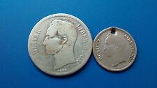 MONEDA DE PLATA VENEZUELA 1 BOLIVAR + regalo de moneda AÑO 1945 PLATA 0.835/1000