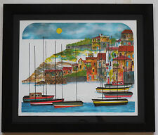 """Leo Hinson """"South France"""" Framed Limited Edition Serigraph Hand Signed"""