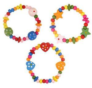 Colourful Wooden Beads Kids Bracelet   Party Bag Filler   Pinata Filler