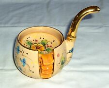 """VINTAGE GUALDOT FRENCH CERAMIC DECORATIVE PIPE WITH ASHTRAY COASTERS HEIGHT 5"""""""