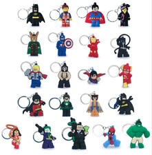 Lego Movie Characters Keyring / key Chain - 21 Characters! Marvel DC Comic Ring