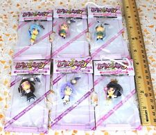 SEGA Rosario+Vampire Double Keychain Figure Full Set of 6 Moka,Mizore,Ruby etc.