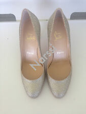 BNIB Christian Louboutin Glitter Champagne Gold Simple Pump Sz36
